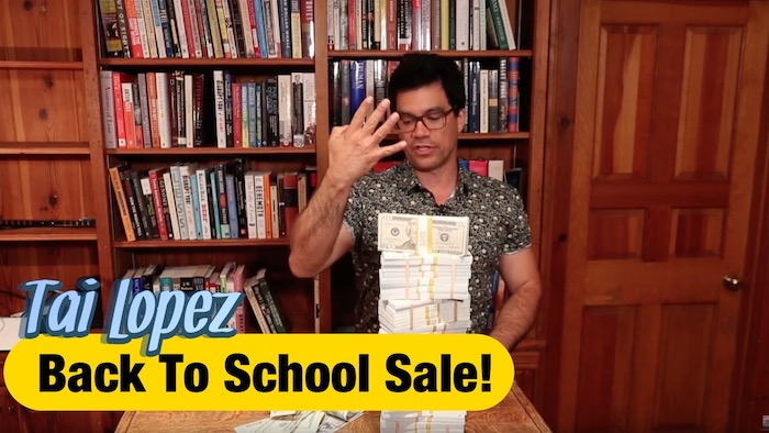 Tai Lopez Back to school sale 4 course bundle